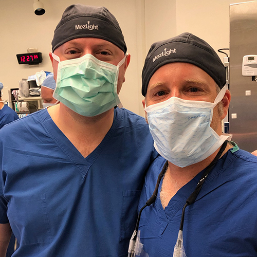 Surgeons showing off their MezLight swag