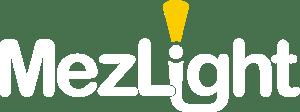 MezLight White Logo Yellow Beam