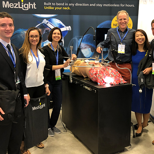 Team MezLight at a conference